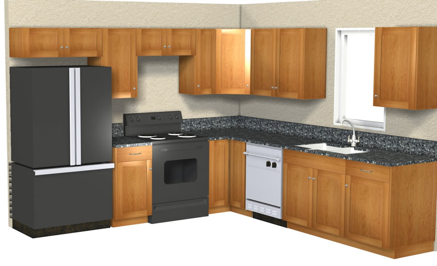 Rcs custom kitchens 10 x 10 kitchen layout images frompo for 10x10 kitchen cabinets
