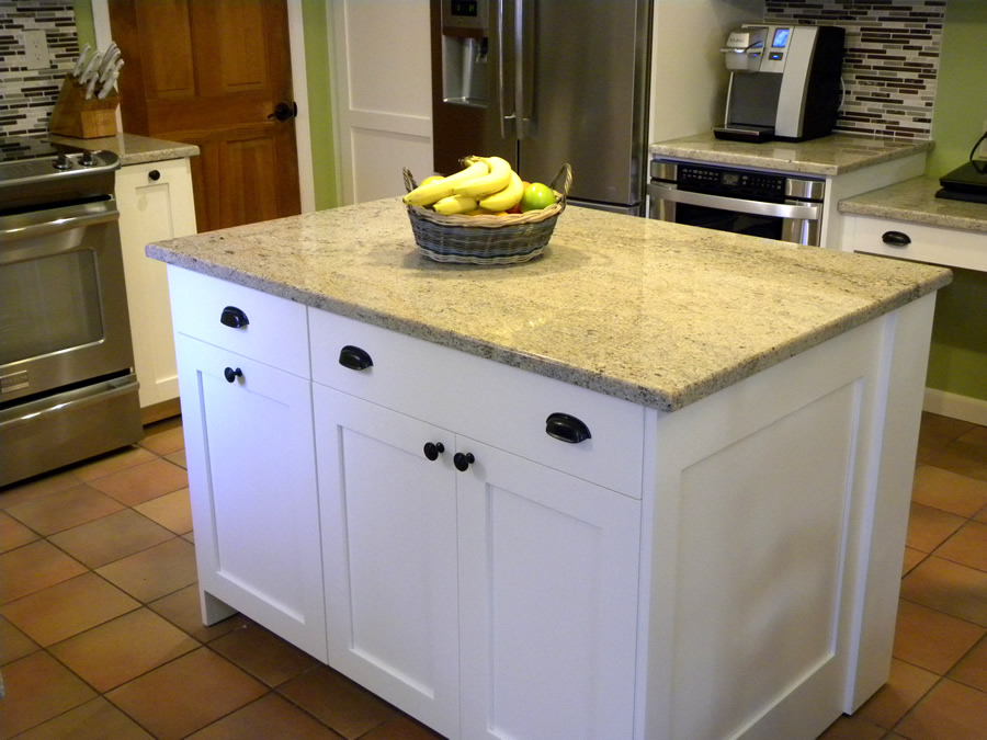 Cortina project shaker in pure white for Barker kitchen cabinets