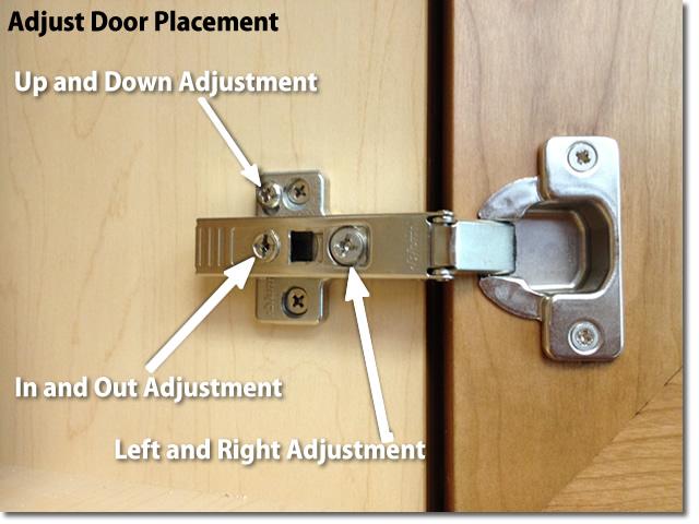 Adjust doors and drawer fronts - Adjust Kitchen Cabinet Hinges
