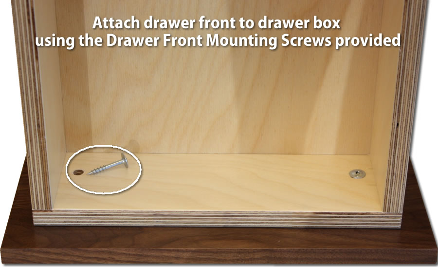 drawer front mounting screws