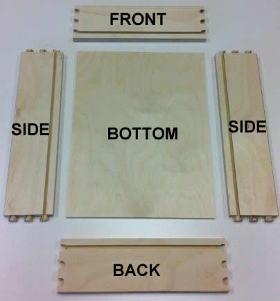 drawer box parts