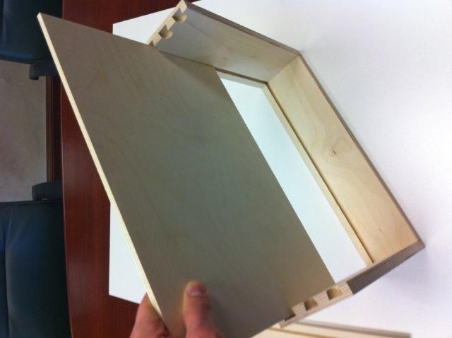 apply drawer box bottom to the box