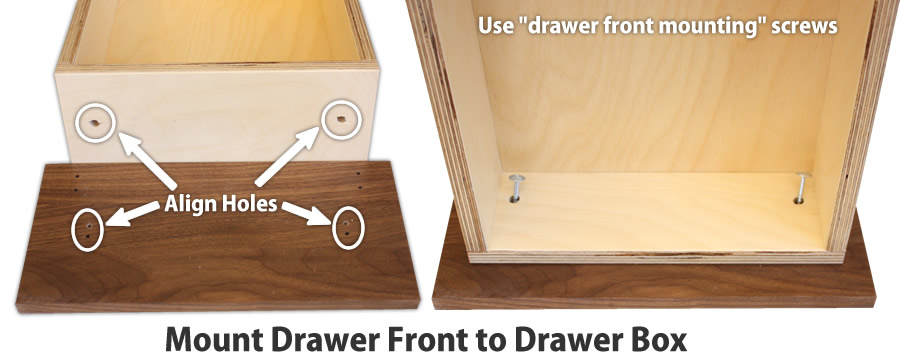 drawer box mounts to teh drawer front