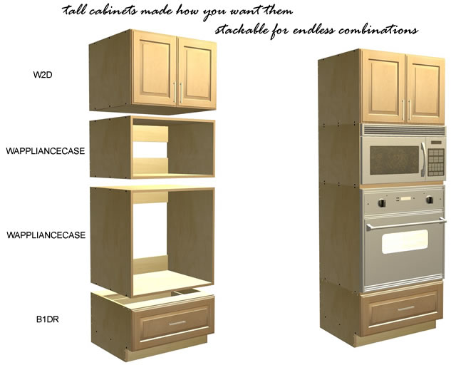 stackable tall cabinets