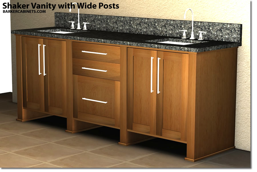 Shaker Vanity With Wide Posts