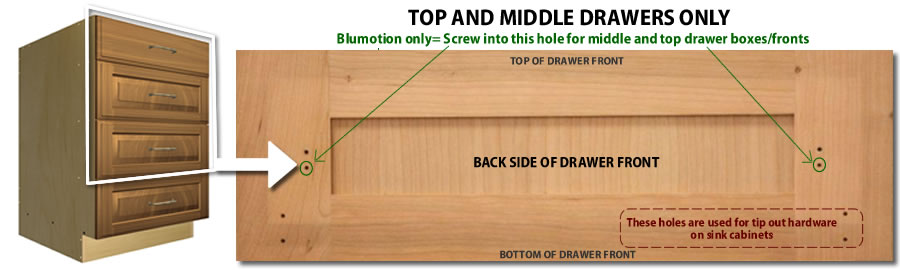 top and middle drawer fronts