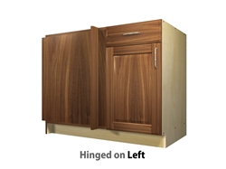 1 door 1 drawer blind corner base cabinet left