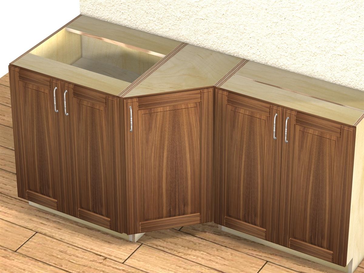 1 door 45 degree transition cabinet for Barker kitchen cabinets