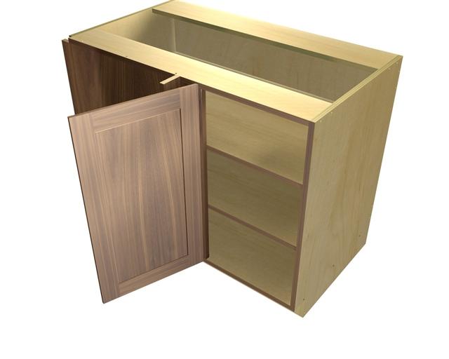 1 door blind corner base cabinet hinged left