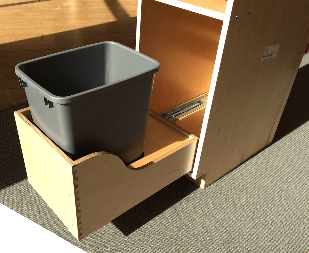 1 pullout trash and 1 drawer cabinet single can. Black Bedroom Furniture Sets. Home Design Ideas