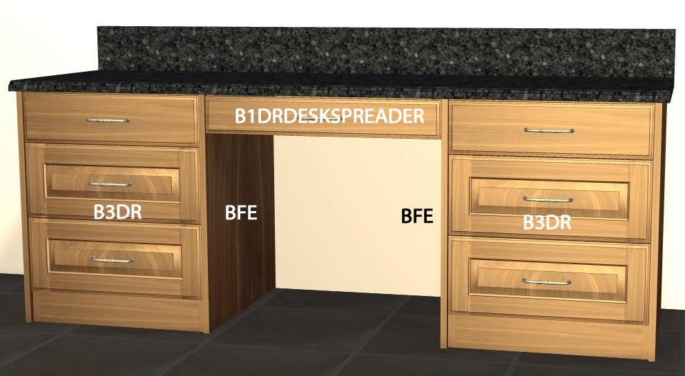 base 1 drawer desk spreader