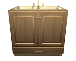 2 door and 1 bottom drawer SINK