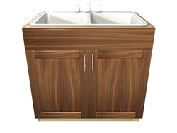2 door 1 false front SINK base cabinet
