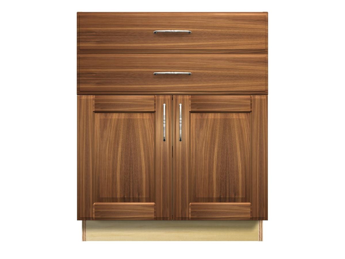 2 door 2 drawer base cabinet