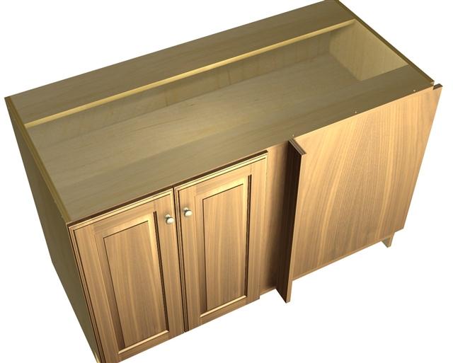 2 door blind corner base cabinet hinged right. Black Bedroom Furniture Sets. Home Design Ideas