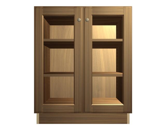 2 Glass Door Base Cabinet