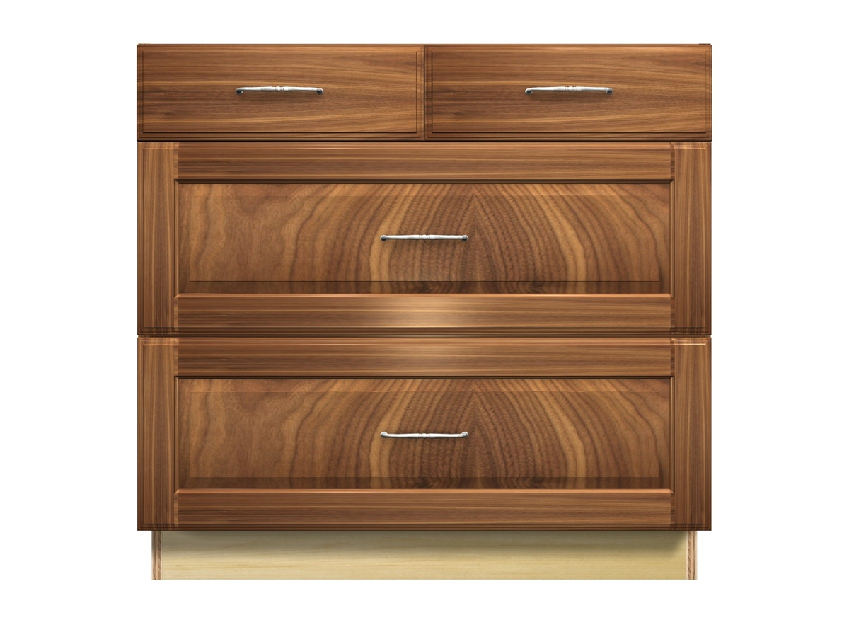 4 drawer base cabinet with split top drawer for Base cabinets