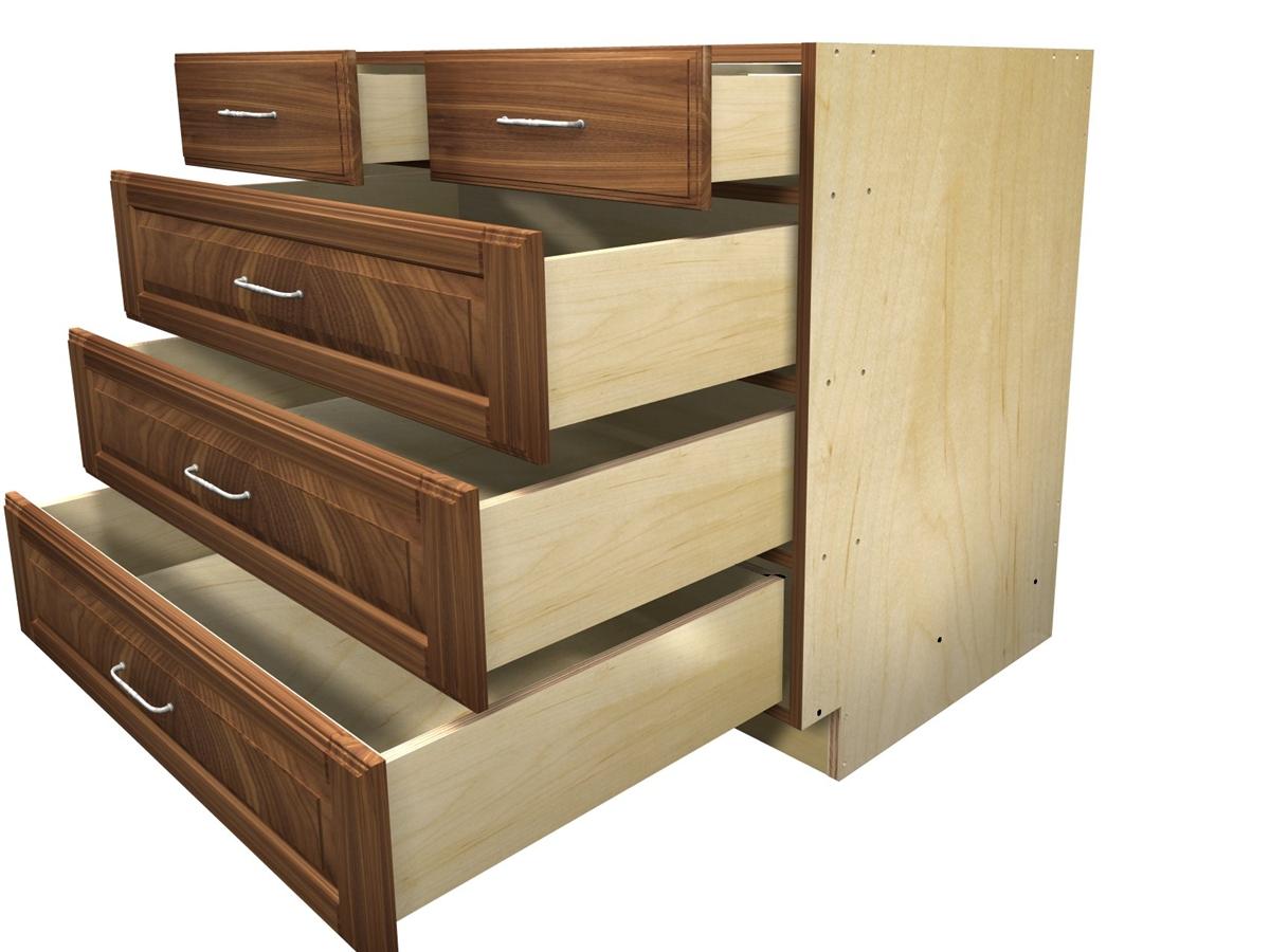 5 drawer base cabinet with split top drawer. Black Bedroom Furniture Sets. Home Design Ideas
