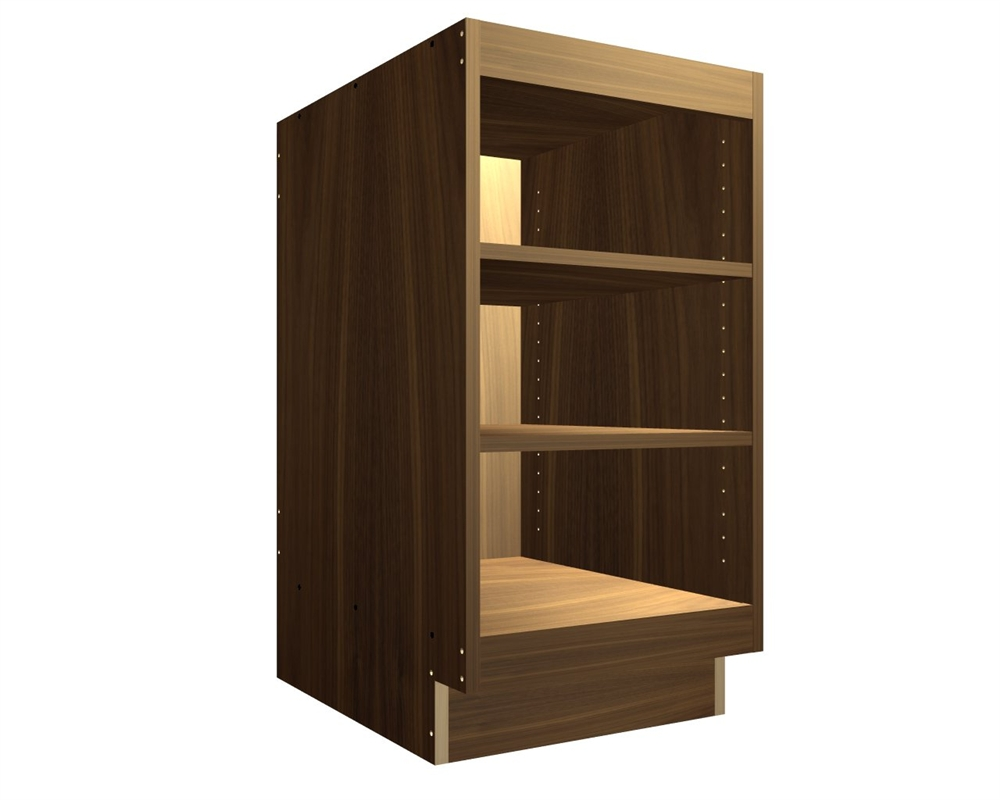 Exposed Interior Base Cabinet With Wide Top And Bottom Rails