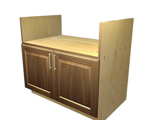 door farm sink base cabinet