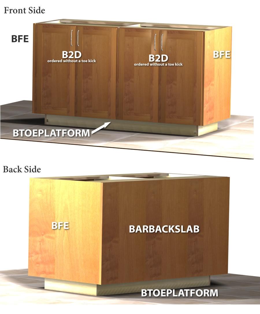 Base toe kick platform v2 - Kitchen cabinet toe kick options ...