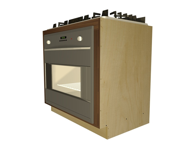 Wall Oven And Cooktop Base Cabinet
