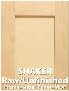 Shaker Paint Grade Sample Cabinet Door