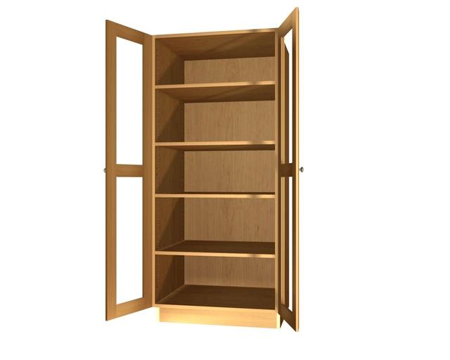 2 glass door pantry cabinet. Black Bedroom Furniture Sets. Home Design Ideas