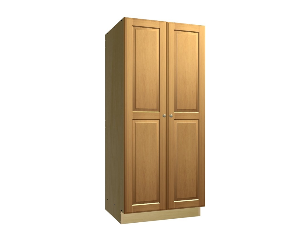 2 door tall pantry cabinet On tall kitchen cabinets