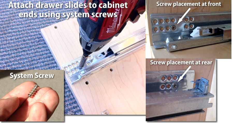 drawer slide installation