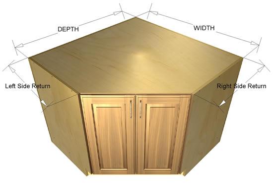 45 degree base sink cabinet. Black Bedroom Furniture Sets. Home Design Ideas