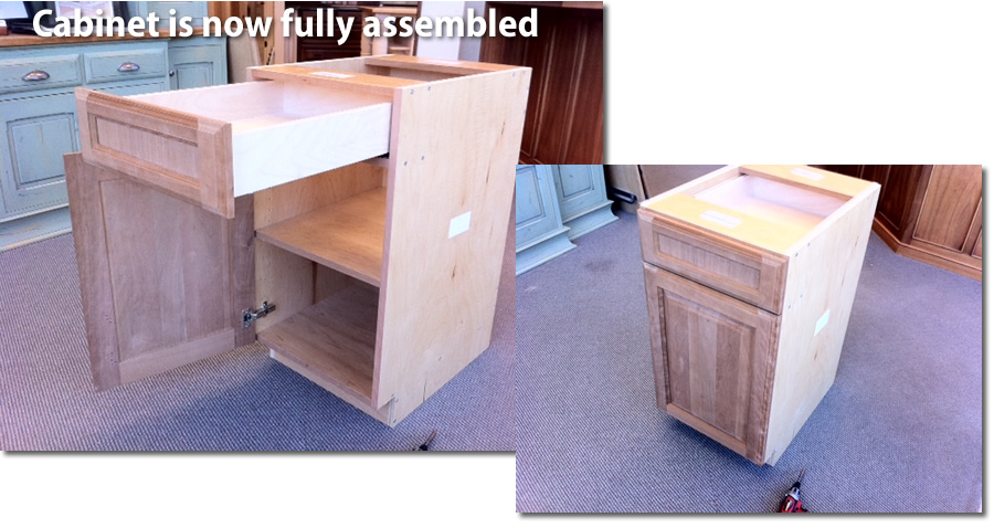 ccompleted cabinet assembly