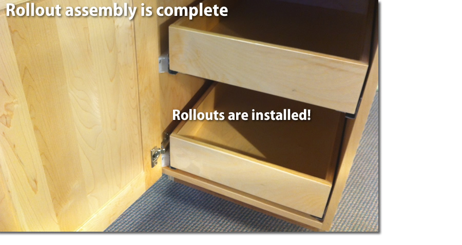Install Rollout Shelves