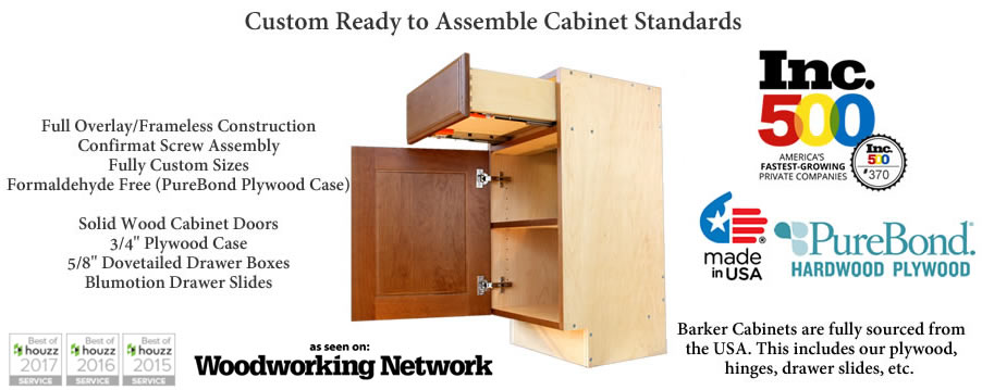 barker cabinets- custom ready to assemble (rta) cabinets