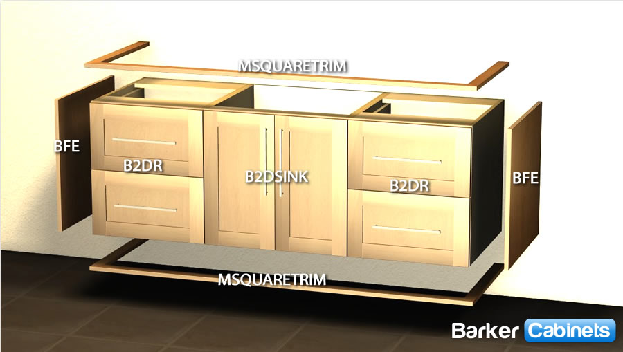 You Are Here:Home U003e Design U003e Vanity Cabinets U003e Standard Vanity Cabinets U003e  Floating Vanity Layout Tutorial