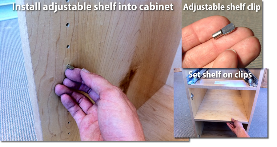 install the adjustable shelf