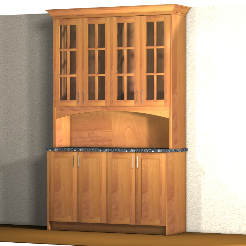 Simple Hutch Cabinet Layout