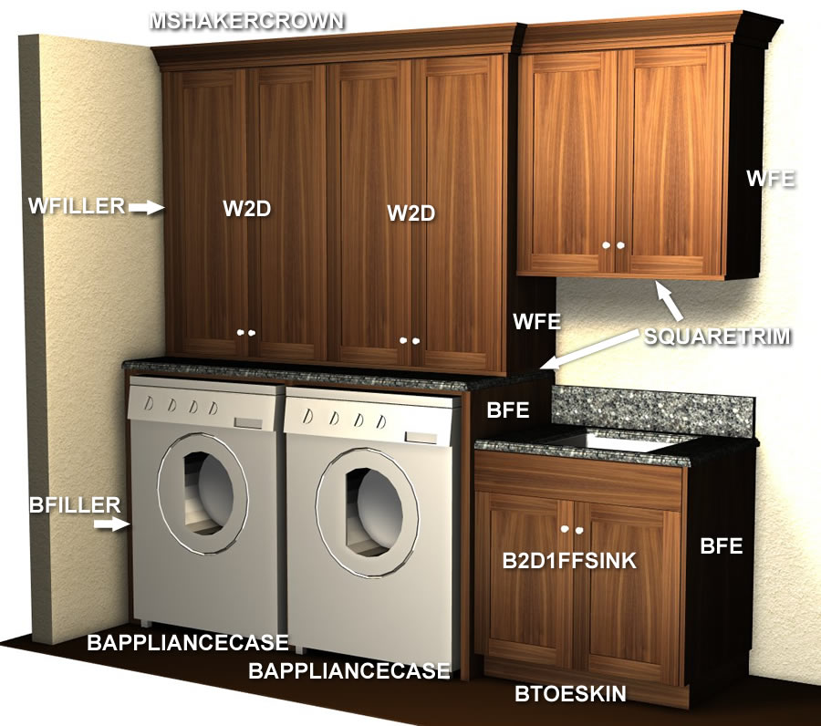 Kitchen Utility Room Layout: Laundry And Utility Cabinet Layout