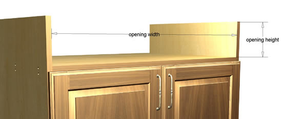 Cabinet Opening Dimensions
