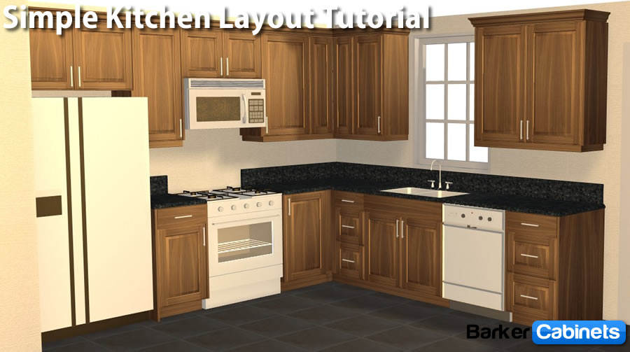 L Shaped Kitchen Cabinets Layout Barker Cabinets