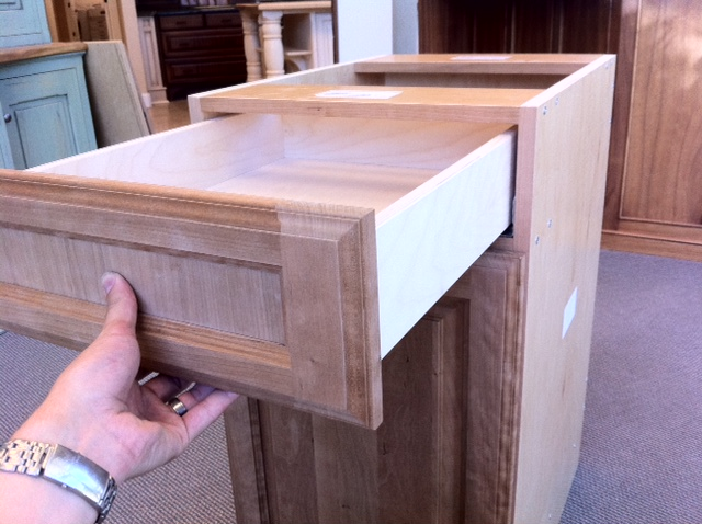 lide drawer box into the opening