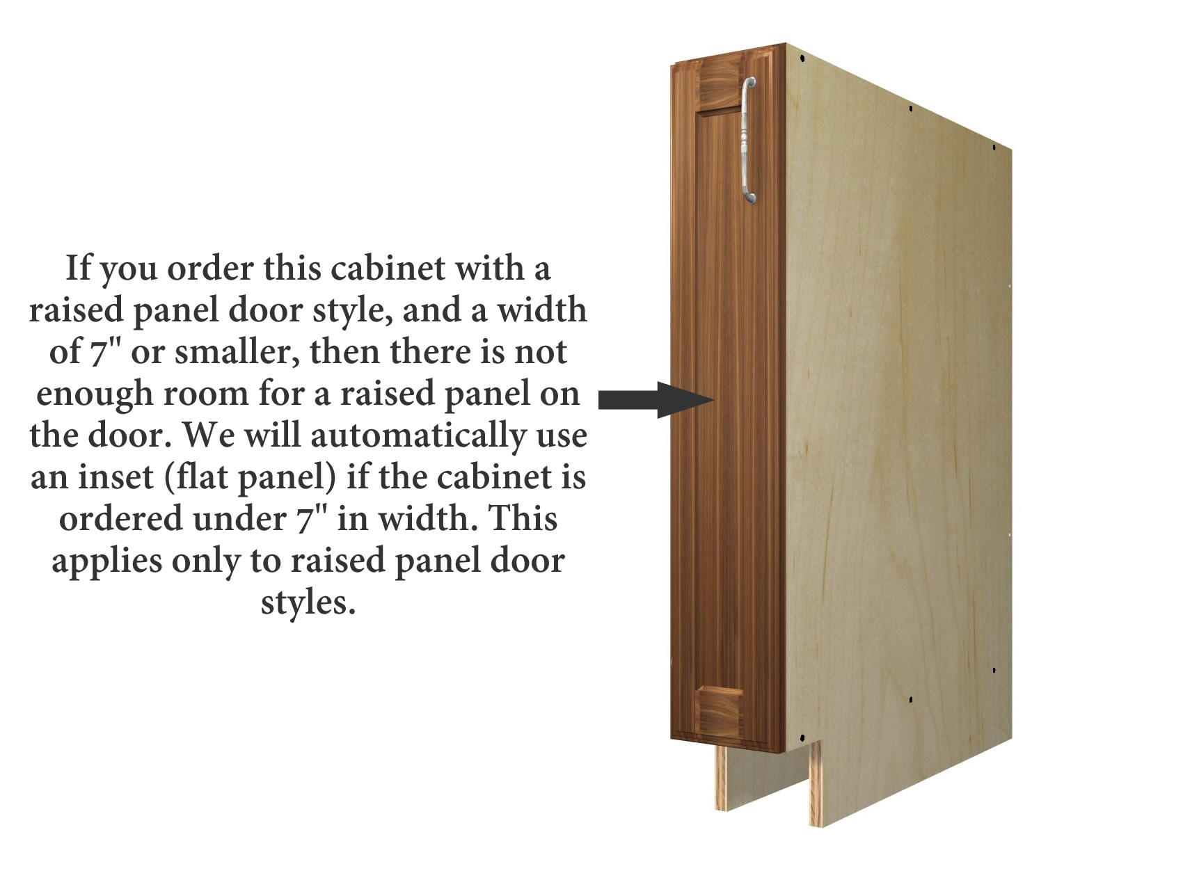 1 Door Base Cabinet Slim Version